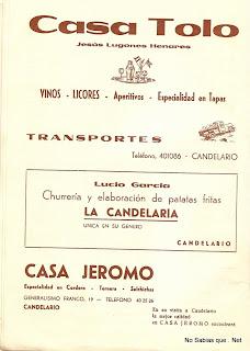 Publicidad de Candelario Salamanca en 1974