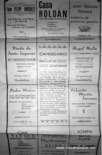 Propaganda fiestas 1954 de Candelario