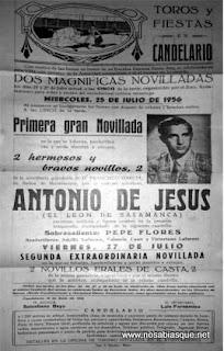 Cartel de fiestas de Candelario salamanca1956