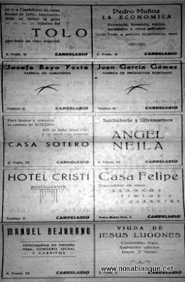propaganda de Candelario Salamanca 1956
