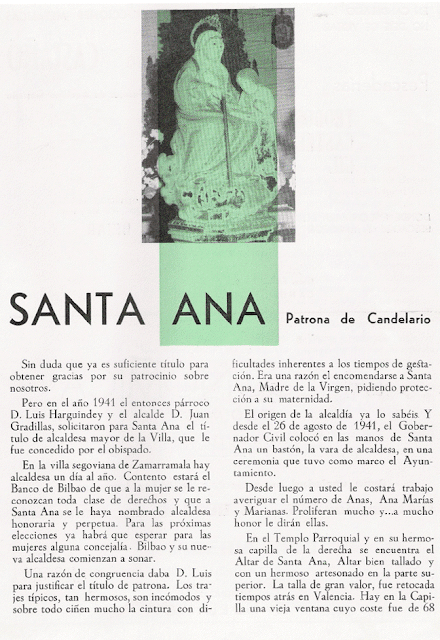 Santa Ana Patrona de Candelario Salamanca