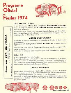 programa de fiestas 1974Culturales  de Candelario Salamanca