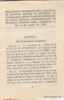 Estatutos de la Sociedad de Incendios de Candelario Salamanca