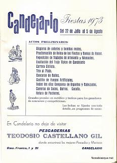 Cartel de fiestas de Candelario Salamanca de 1973