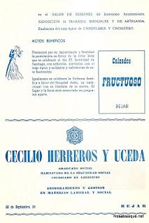 Programa oficial de fiestas de Candelario Salamanca 1975-2