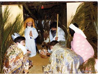 Candelario Salamanca nacimiento viviente ya vienen los reyes navidad 1976