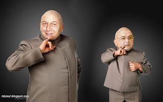 Dr. Evil - Traian Basescu si Mini Me - Emil Boc