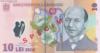 Traian Basescu 10 lei