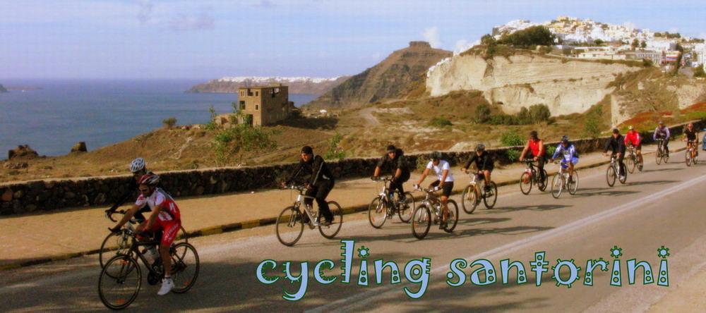 Cycling Santorini