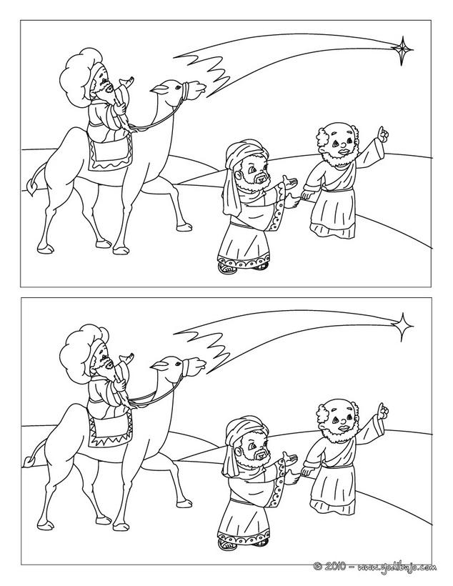 La Navidad Juego de las diferencias Reyes Magos