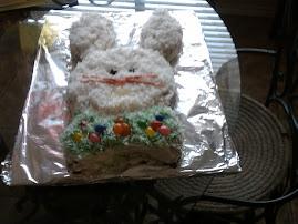 A bunny cake