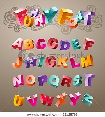 3d bubble letter letter a z graffiti letter