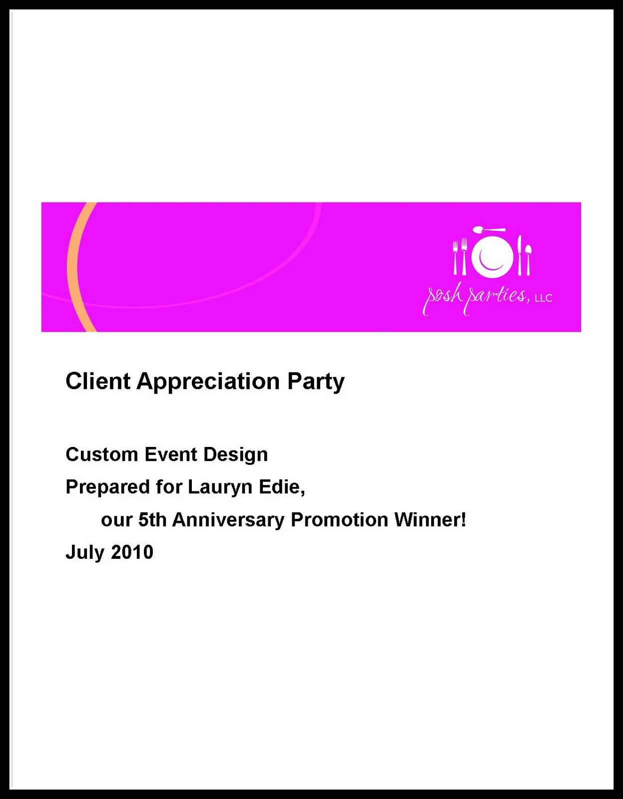 posh in a pinch: {event showcase} Client Appreciation Party|party ...
