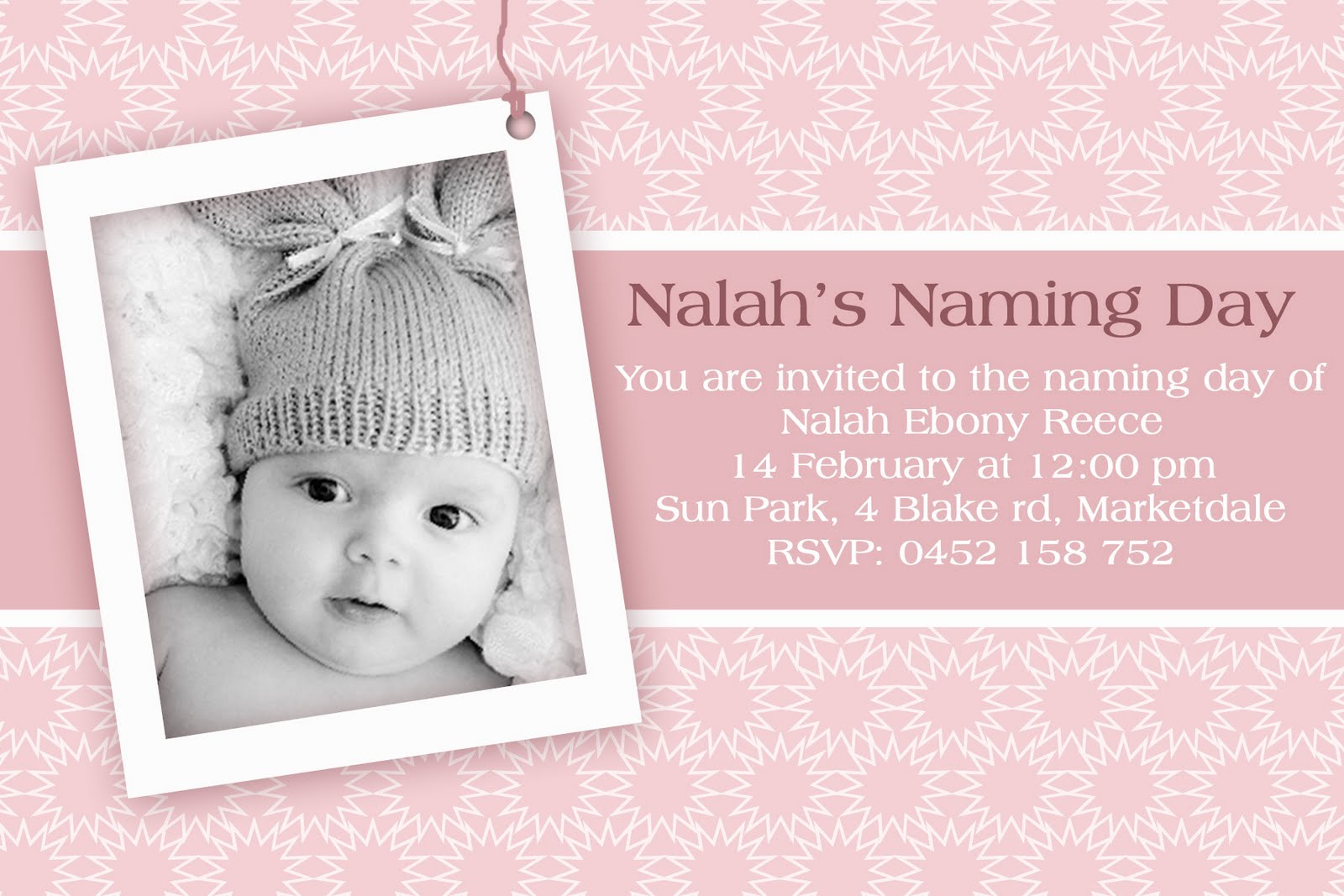 angelina plum  christening and naming day invitations and