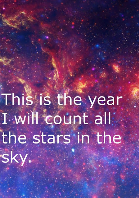 This is the year I will count all the stars in the sky.