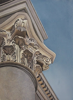 Watercolor Painting Architectural Detail