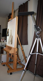 Fine Art Studio Easel Set Up