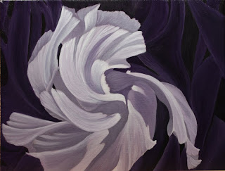 Abstract Acrylic Flower Painting - Blown Away