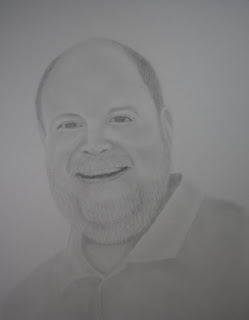 Graphite Portrait Sketch Christmas Commission Gift