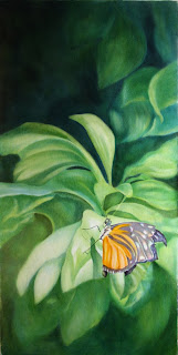 Oil Painting of Butterfly - Torn