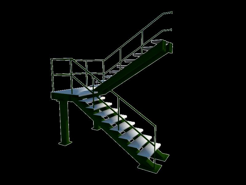 Geo3d ideiagrafica escalera tubular metalica - Escalera metalica prefabricada ...