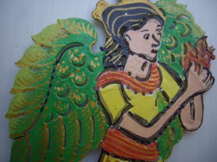 SWEET CHRISTMAS HOLY ANGEL, HANDMADE IN BALI, WAYANG-KULIT DESIGN