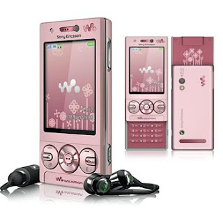 W705 sony pink,cute phone w705