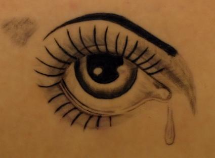 tattoo sadness: Crying Eye Tattoo