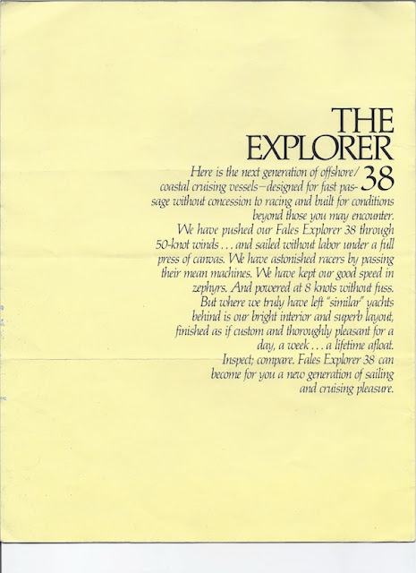 Fales Explorer Sailboat Brochure Page 2