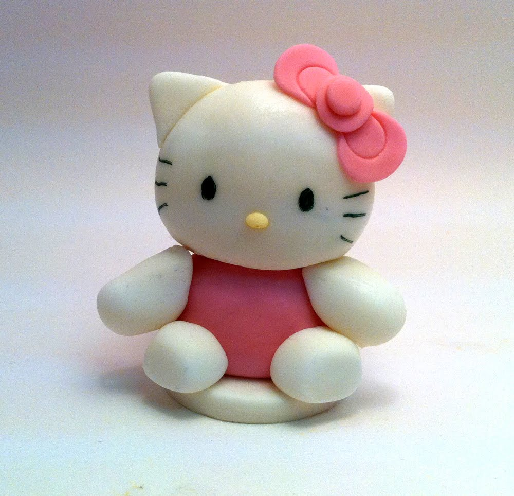 How To Make Hello Kitty Fondant Cake Topper