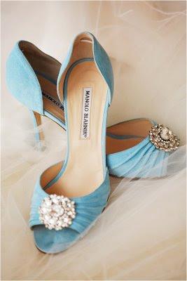 manolo blahnik designer wedding shoes sky blue