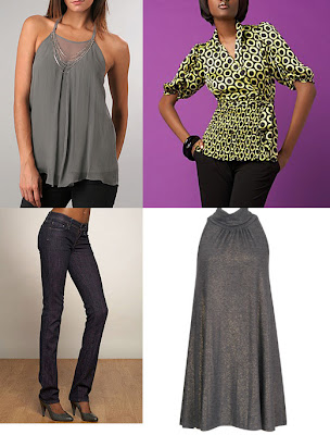 Top Row: Twelfth Street By Cynthia Vincent Chain Neck Top , $275, Www