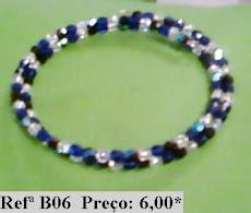Refª B06 NOVO PREÇO: 4,00* Pulseira com facetes azuis e brancos