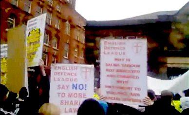 EDL demo in Stoke