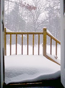Snow at Schloss Bodissey 1