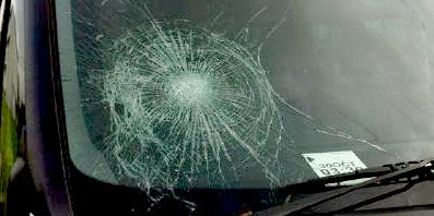 Amsterdam: EDL, smashed windscreen