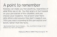 Excerpt in Psychologies Magazine