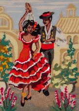 Webster's Spanish Dancers, punch Needle kit