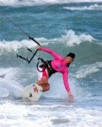 I'm learning to kite surf