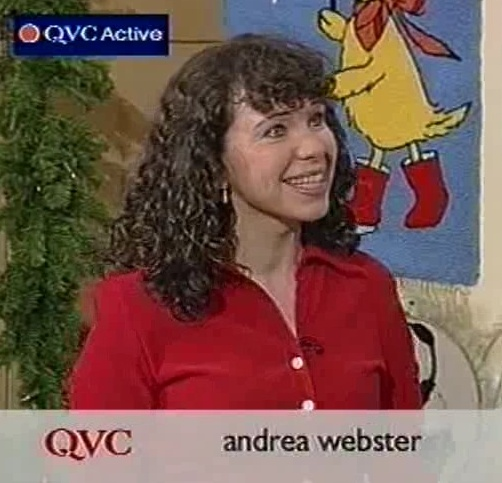Andrea Webster, behind the scenes at QVC auditions.