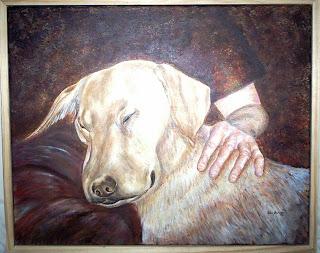commissioned dog portrait