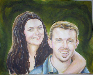 commissioned wedding portrait