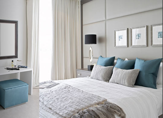 Acute Designs: Blue and Gray Bedrooms