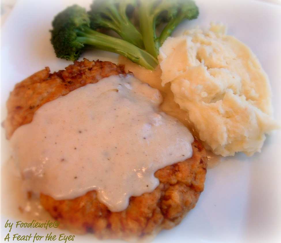 A Feast for the Eyes: Chicken Fried Steak with Creamy ...