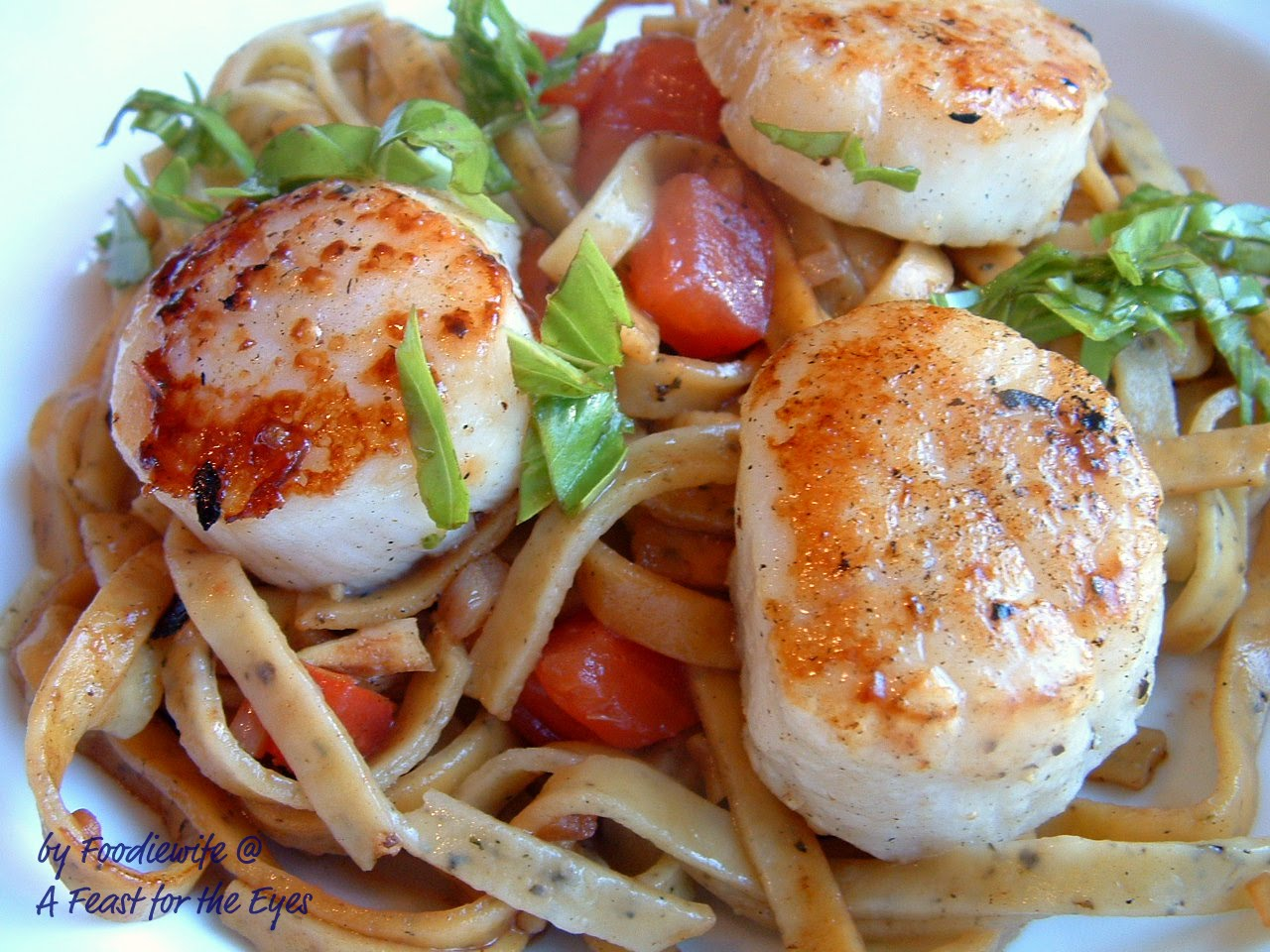 Perfectly Seared Scallops Pasta Adapted From Steamy Kitchen