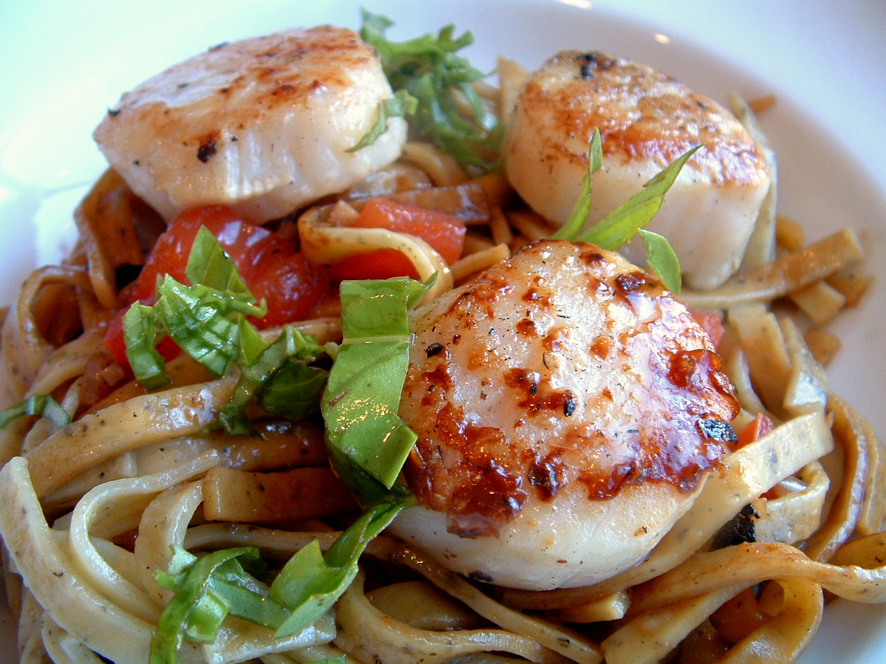 A Feast for the Eyes: Perfectly Seared Scallops & Pasta ...
