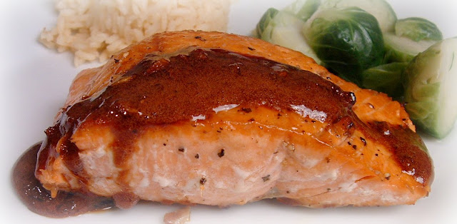Feast for the Eyes: Wasabi & Honey Glazed Salmon with Coconut Rice