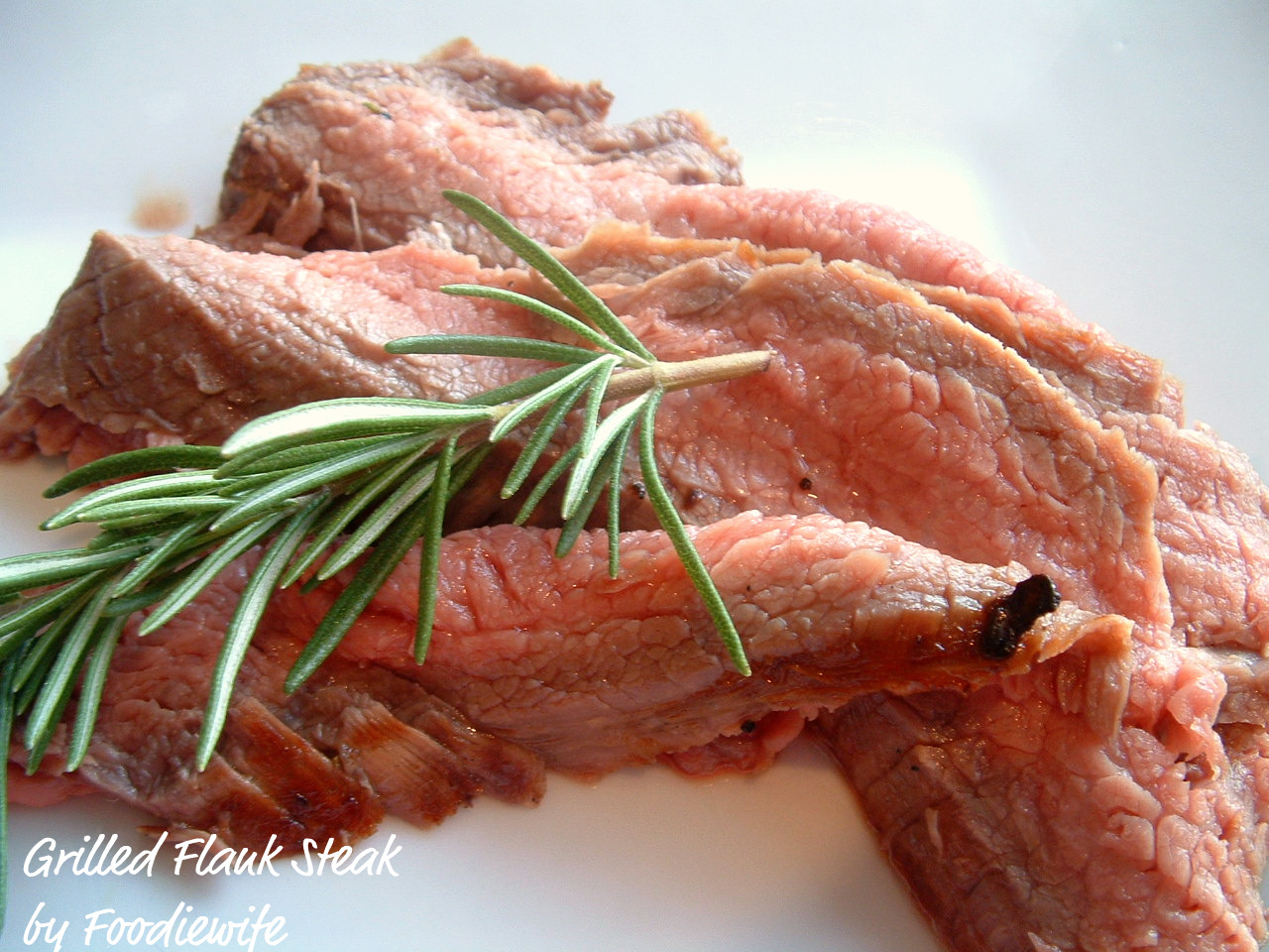 ... the Eyes: Grilled Flank Steak with Garlic-Shallot-Rosemary Marinade