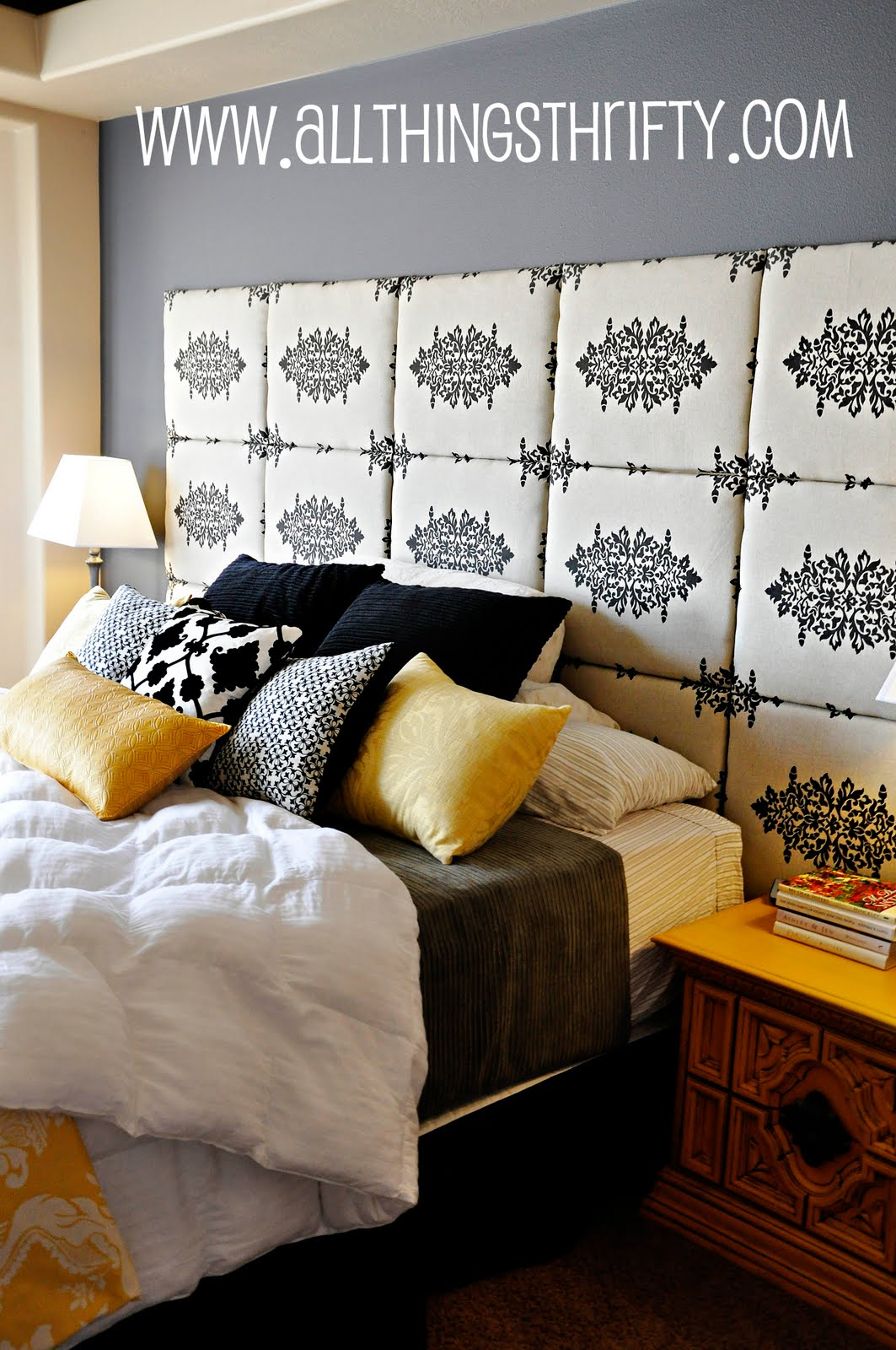 make your own headboard for less than 80 00 all things thrifty