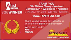 Vote for TAN'R YOU as the best tanning salon in the Milwaukee Area.
